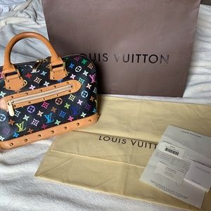 Louis vuitton alma multicolor murakami handbag